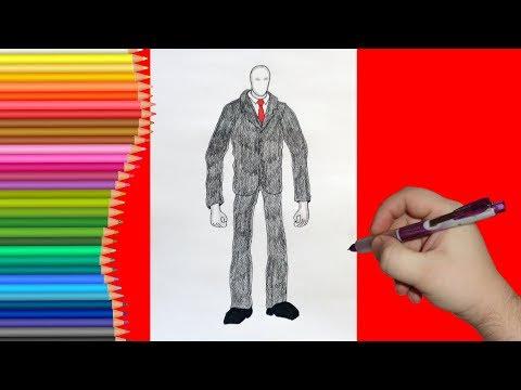 Как рисовать слендермена поэтапно