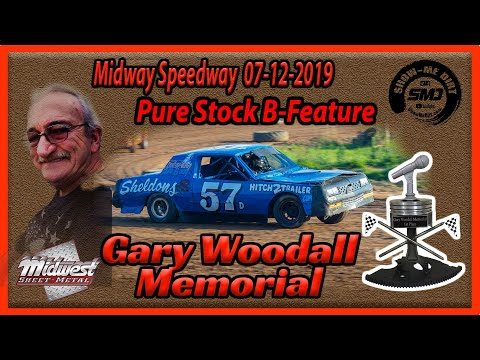 S03 E339 Gary Woodall Memorial Pure Stock B-Main - Midway Speedway 07122019