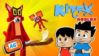 ROBLOX PIGGY + Kitty Español | Escapando del GATO LOKO! 🧀 El juego del GATO y el RATON