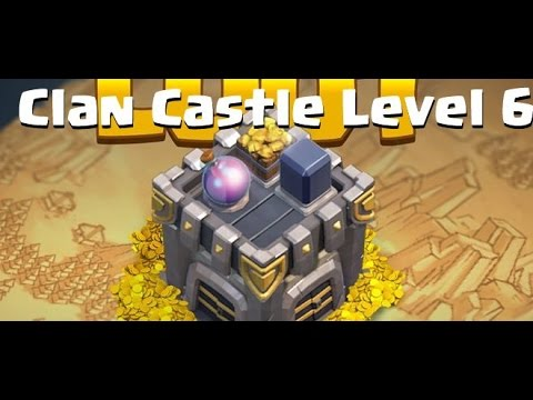 Clash Of Clans Upgrade Clan Castle Level 6