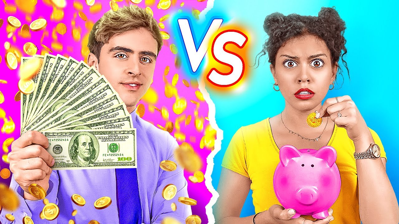 RICH VS BROKE STUDENT | Being Popular for 24 Hours! Types Of Students At School By 123 GO! CHALLENGE
