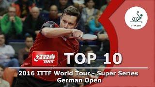 DHS ITTF Top 10 Shots - 2016 ITTF German Open