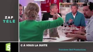 Zapping TV : Le cadeau dégoûtant de Michel Cymes à Anne-Sophie Lapix