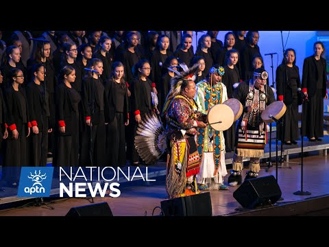 Singers from the Medicine Tail group collaborate with the Chicago Children's Choir | APTN News