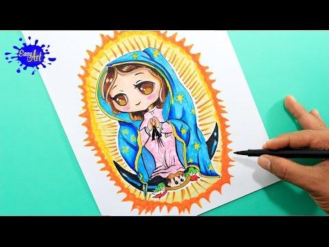 How To Draw Guadalupe Virgen Como Dibujar La Virgen De Guadalupe