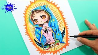 How to draw Guadalupe virgen / como dibujar la virgen de Guadalupe