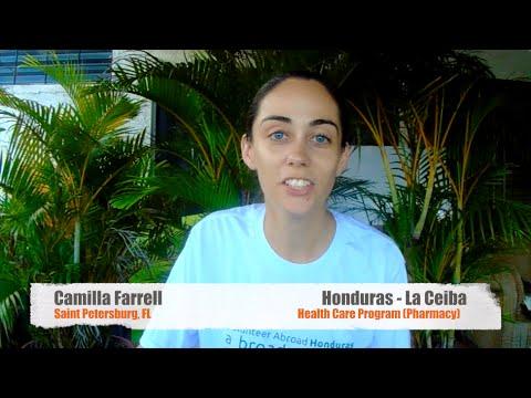 Video Review Volunteer Camilla Farrell Honduras La Ceiba Health Care program