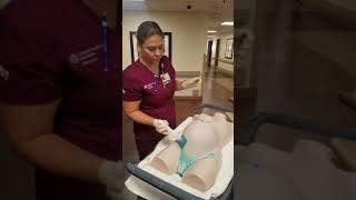 OR prep using chlorhexidine for a cesarean section