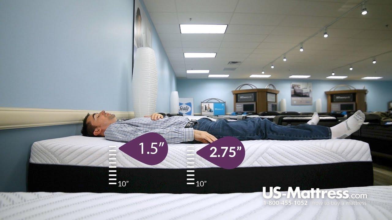 Sealy Posturepedic Conform Performance High Spirits Firm Mattress Comfort Depth Jed