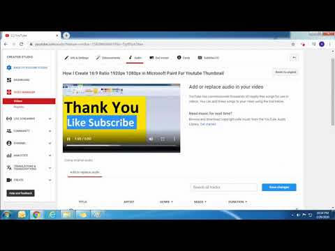 How I Add Free Music From Youtube Library To My Videos On Youtube Step By Step Youtube