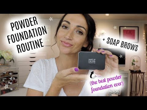 MY EASY POWDER FOUNDATION & BROW ROUTINE | EVERYDAY MAKEUP thumbnail