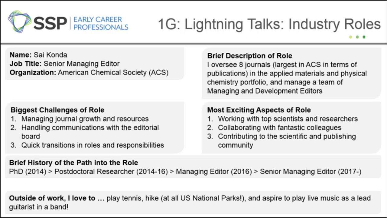 Lightning Talks: Profiles in Scholarly Publishing (continued