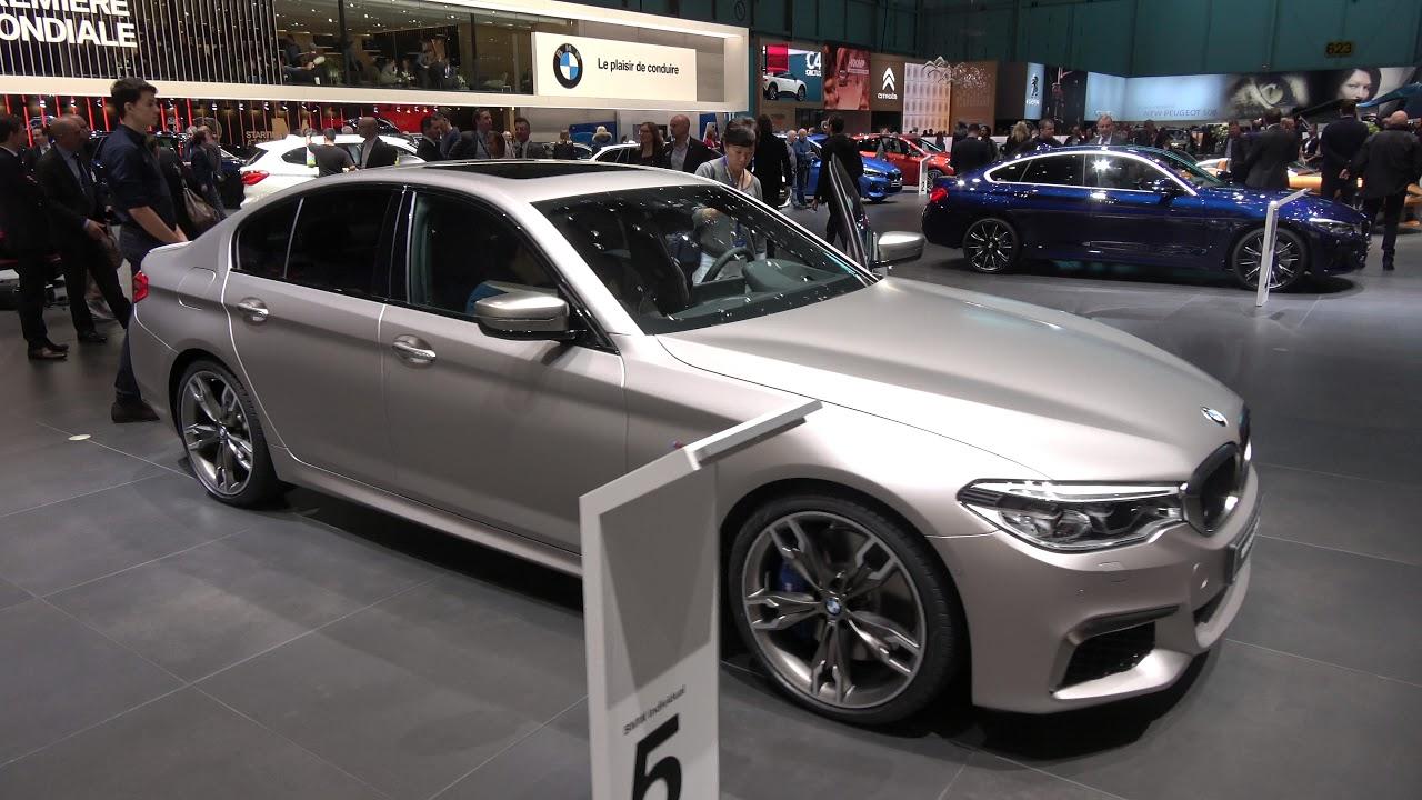 [4k] BMW M550d Frozen Cashmere Silver Individual - YouTube