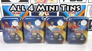 Opening 4 Match Attax 101 2019 20 Mini Tins Gold Messi Limited Edition Hunt Every Mini Tin