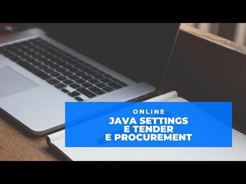 java-settings-for-e-tender-and-e-procurement