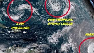 Tropical Storm Leslie to become a hurricane hitting Carolinas