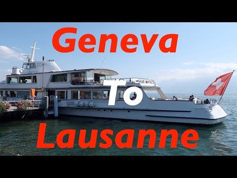 Geneva to Lausanne ferry trip on MS Henry Dunant