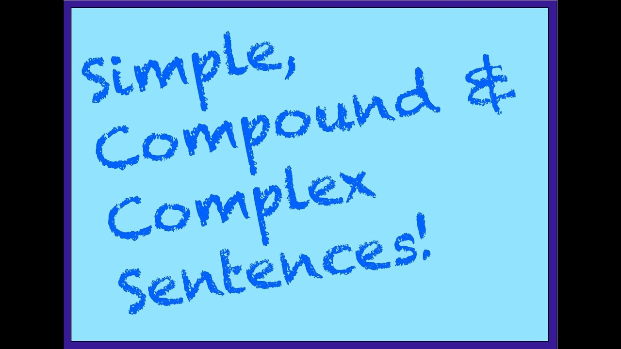 worksheet Compound And Complex Sentence Worksheets simple compound complex sentences part 1 spelling grammar punctuation series youtube