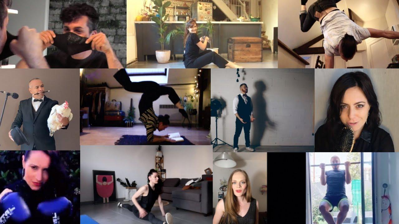 Vidéo des artistes du Moulin des Roches en confinement