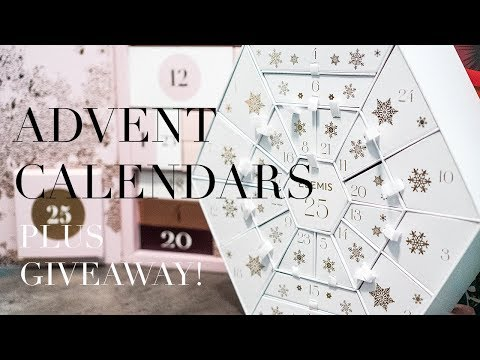 Reviewing 3 Beauty Advent Calendars & Giveaway!
