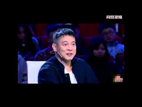 jet li on chinese tv show (need translation)!