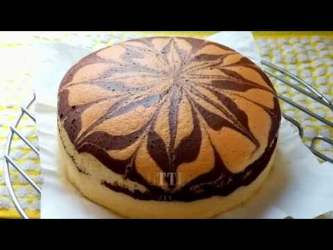 Soft Marble Butter Sponge Cake