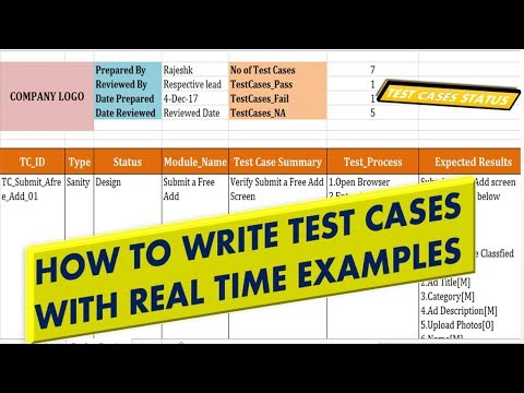how to write a test case