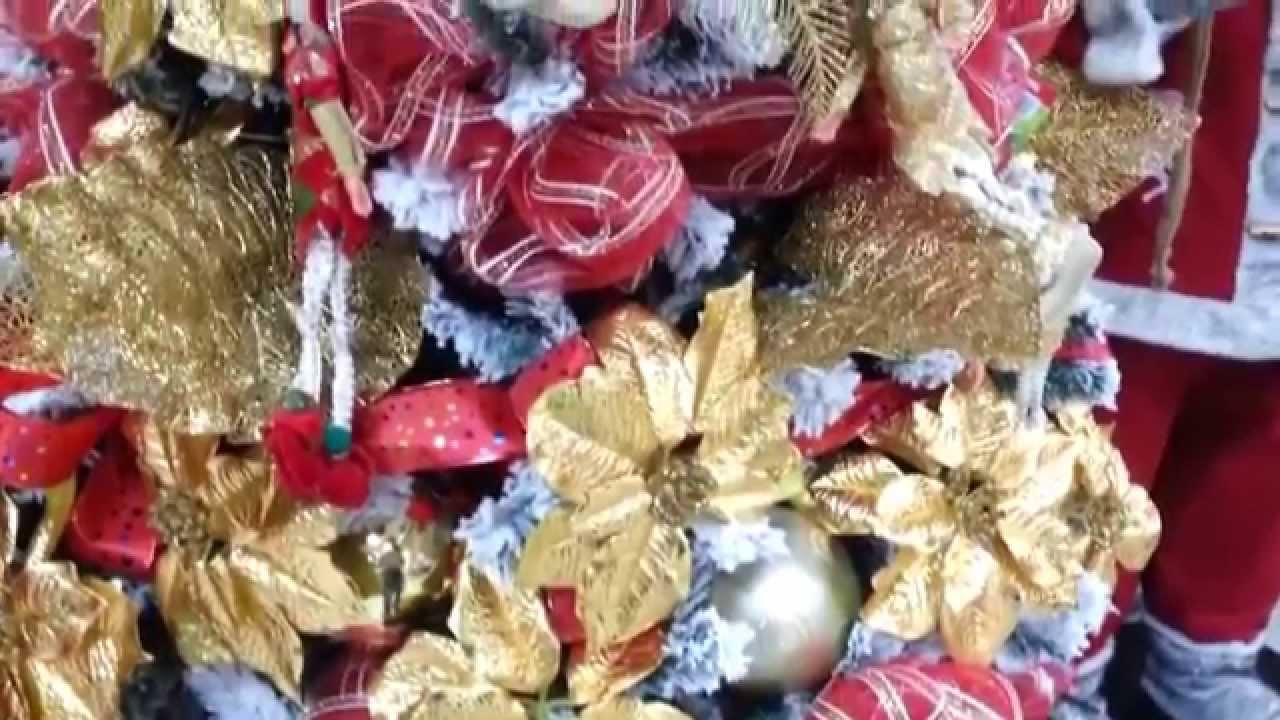 Decoracion arboles de navidad 2017 blanco con flores - Decoracion arboles de navidad ...