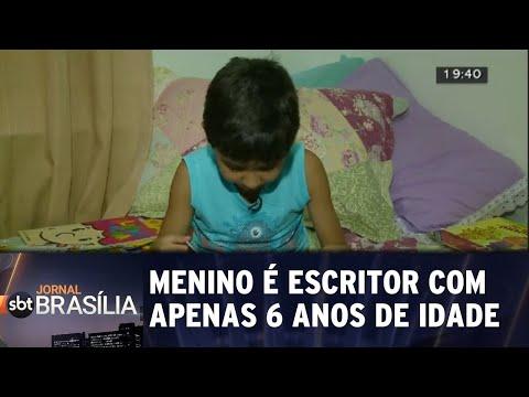 Menino é escritor com apenas 6 anos de idade | Jornal SBT Brasília 16/07/2018