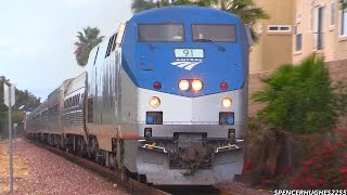 Amtrak Trains on November 1st, 2014 (P42DC #91 Chase included)