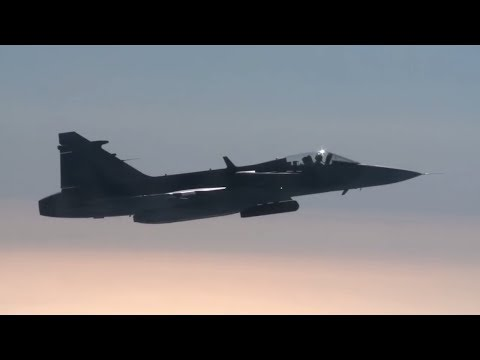 NATO and Sweden train Air Policing in the Baltic region (w/subtitles)