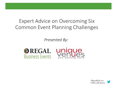 Expert Advice on Overcoming Six Common Event Planning Challenges