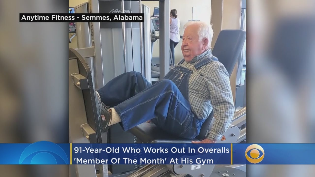 91-Year-Old Man Who Works Out 3 Times A Week In His Overalls Urges Others To 'Get Started'
