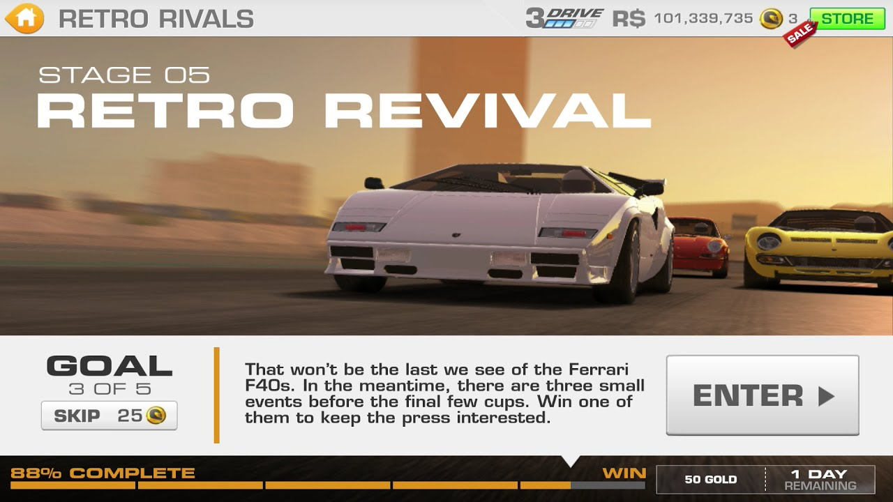 retro rivals stage 05 goal 3 of 5 lamborghini countach real racing 3 youtube. Black Bedroom Furniture Sets. Home Design Ideas