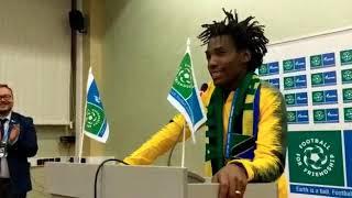 Football for Friendship delegation presentation by Emanuel Saakai