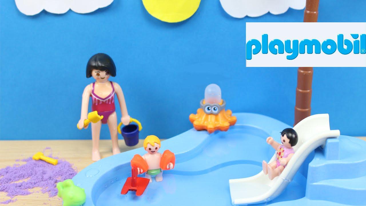 Piscina de playmobil 6673 juguetes de playmobil en for Piscina playmobil