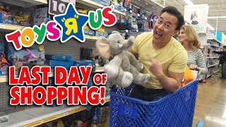 "MAKING A MUSIC VIDEO IN TOYS ""R"" US!!! Toys ""R"" Us Closing BTS! Last Day of Toy Shopping!"