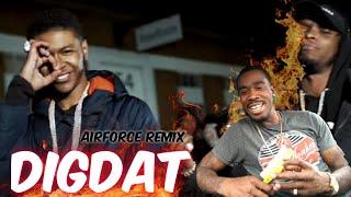 AMERICAN REACTS TO UK RAPPERS DigDat - Airforce Remix (Ft K Trap, Krept & Konan)