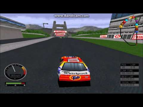 NASCAR Road Racing (PC) Gameplay (Ricky Rudd) (Bridgeport Speedway) (5 Laps)