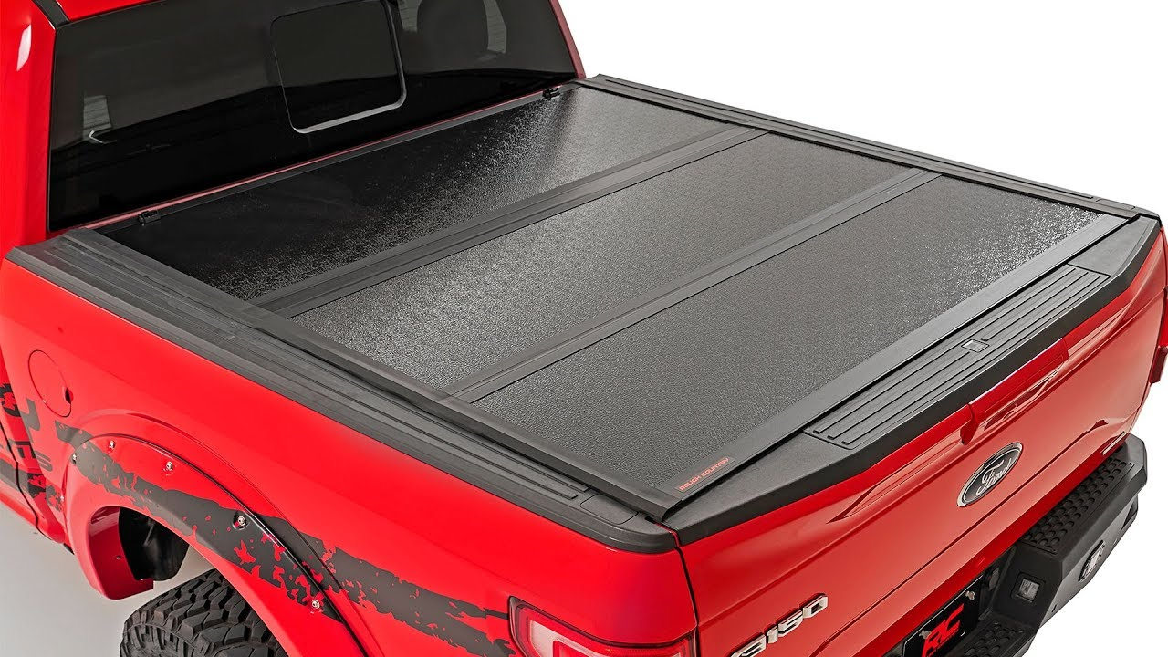 Low Profile Hard Tri Fold Tonneau Cover By Rough Country Youtube