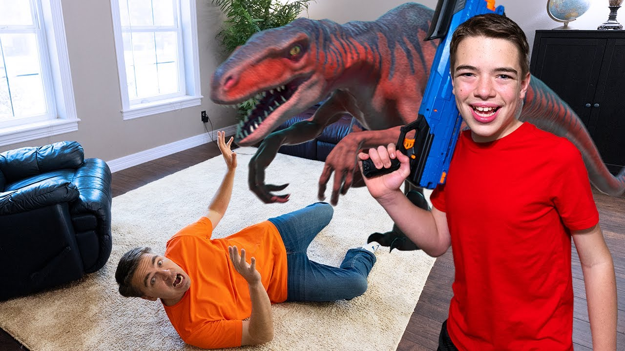 Jurassic Creature Trouble! It's In Our House! | Steel Kids