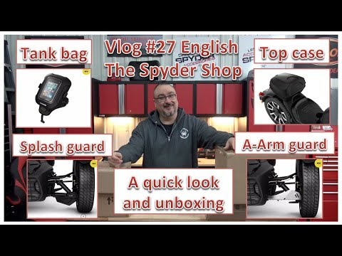 Repeat Can Am Ryker unboxing 4 different accessories - The