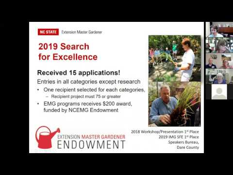 2019 NC State Extension Master Gardener Search For Excellence Celebration