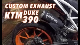 Getting a Custom Exhaust for my KTM Duke 390 : Orion Racing Pipes : Duke 390 Upgrades