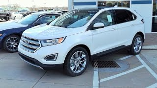 2015 Ford Edge Titanium AWD 3.5L V6 Start Up, Full Tour and Review