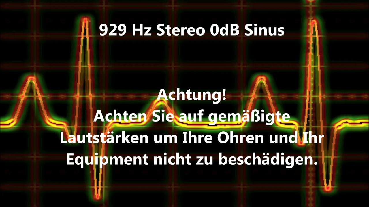 929 Hz Sinus Sound Test 0dB Stereo Beeper Wave