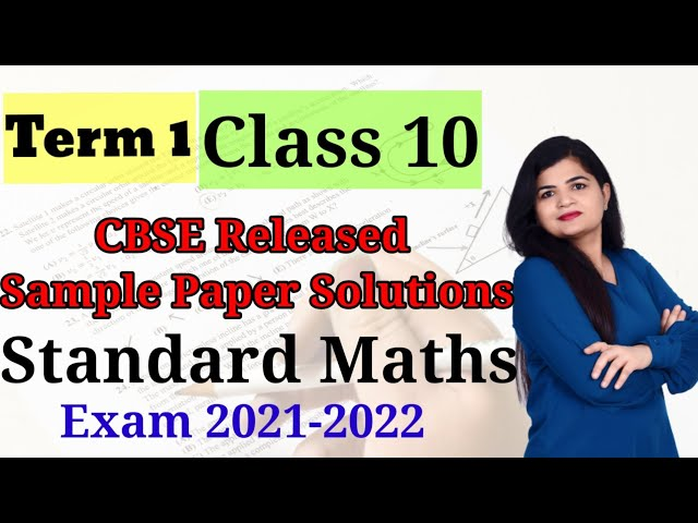 Class 10th | cbse sample paper | exam 2022 | maths standard  | section A Q1 to Q20
