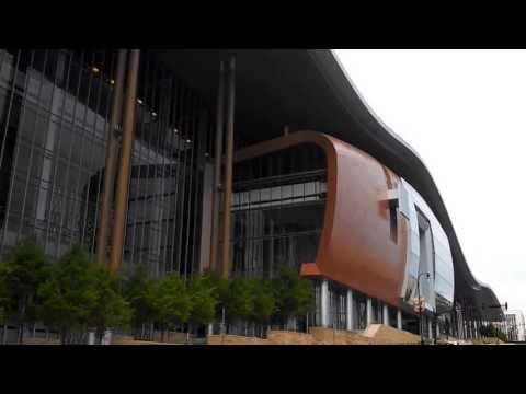 The New Music City Center Convention center in Downtown Nashville Tennessee.