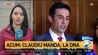Claudiu Manda, audiat la DNA