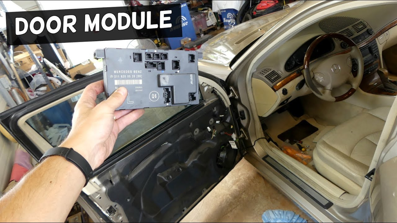 Mercedes W211 Door Module Computer Replacement Removal
